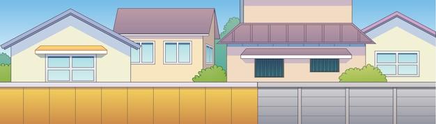 Fundo de casa cidade japonesa