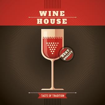 Fundo de casa de vinho