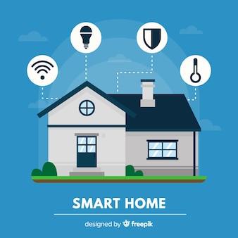 Fundo de casa inteligente