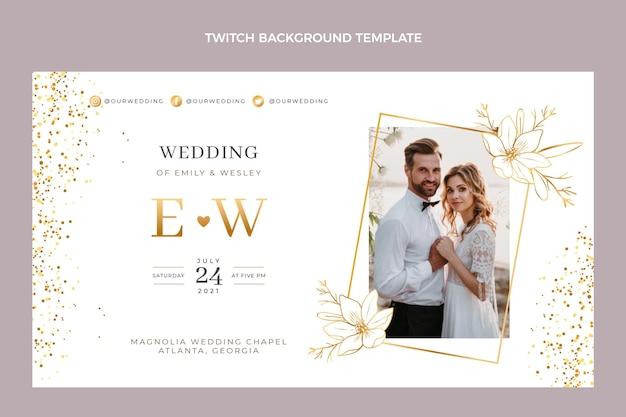Fundo de casamento dourado de luxo