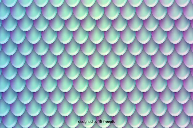 Fundo de cauda de sereia duotônico holográfico