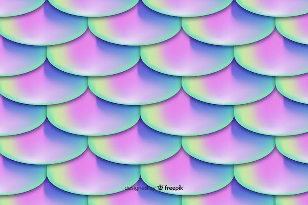 Fundo de cauda de sereia holográfica