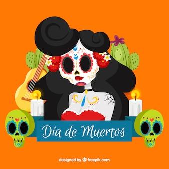 Fundo de caveira mexicano bonito