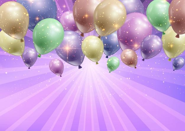 Fundo de celebração com balões