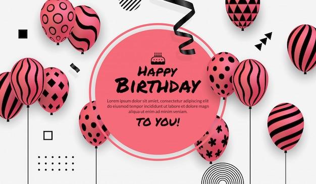 Fundo de celebração de festa de aniversário com espaço de cópia de texto e mensagem