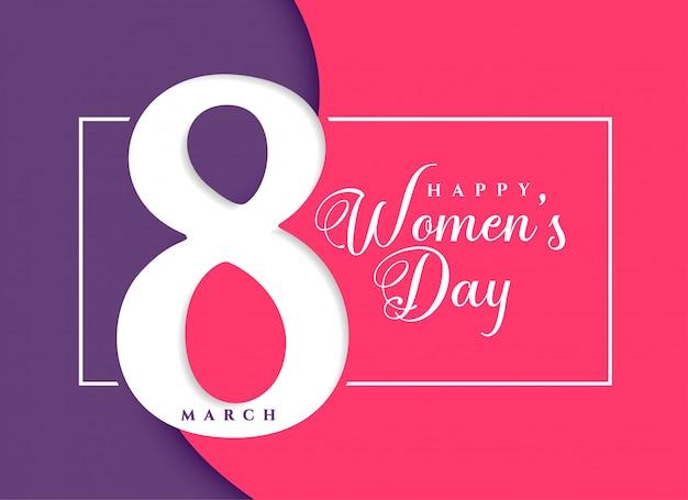 Fundo de celebração de março de dia feliz feminino