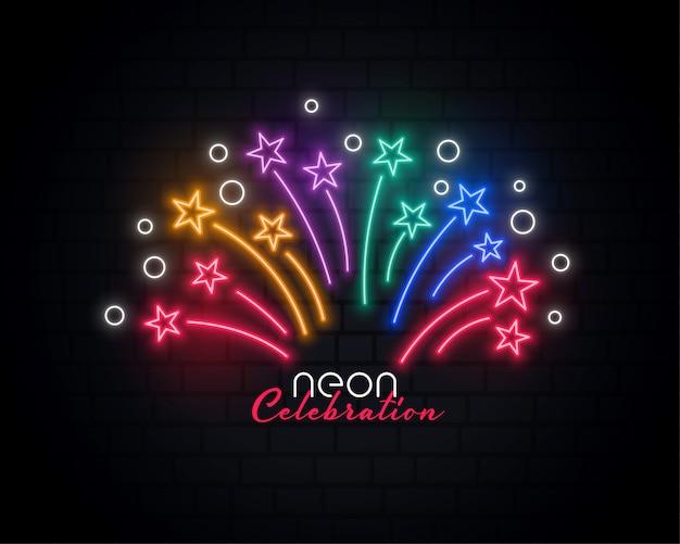 Fundo de celebração de néon