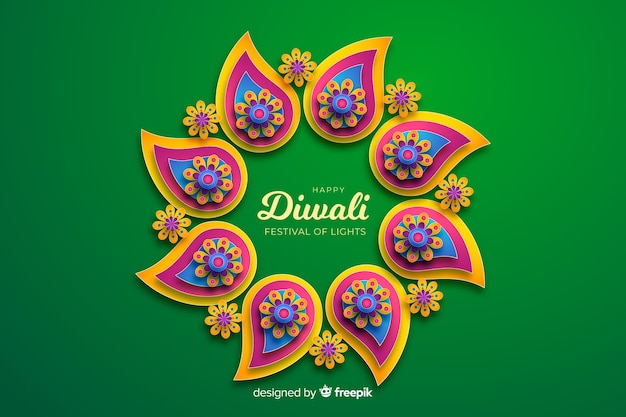 Fundo de celebração de ornamentos de férias de diwali