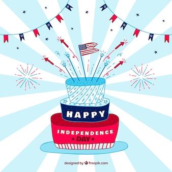 Fundo de celebração do dia da independência de estados unidos