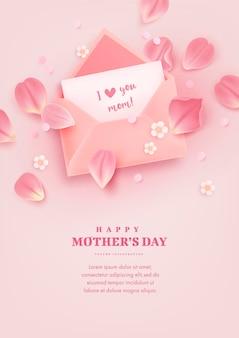 Fundo de celebração do dia das mães feliz