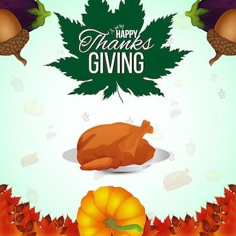 Fundo de celebração do dia de ação de graças feliz