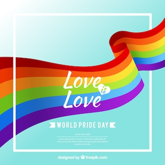 Fundo de celebração do dia do orgulho
