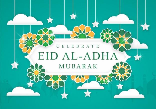 Fundo de celebração do eid al-adha