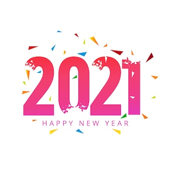 Fundo de celebração do feriado de feliz ano novo de 2021