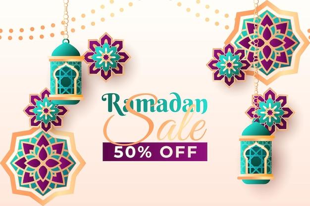 Fundo de celebração eid mubarak 4eid mubarak com estilo de papel
