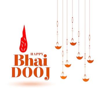 Fundo de celebração tradicional do bhai dooj indiano