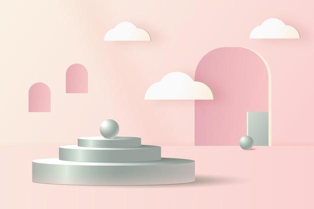 Fundo de cena abstrato 3d