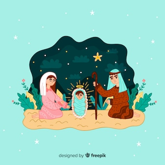 Fundo de cena da natividade