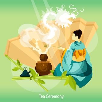 Fundo de cerimônia do chá