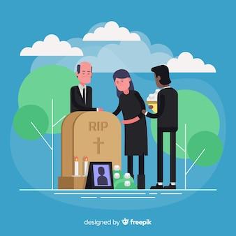 Fundo de cerimônia fúnebre