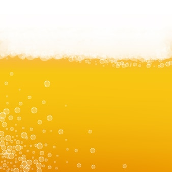 Fundo de cerveja artesanal. respingo de cerveja. espuma oktoberfest. espuma caneca de cerveja com bolhas realistas. bebida líquida fresca para pab. conceito de menu laranja. taça de ouro para espuma oktoberfest.