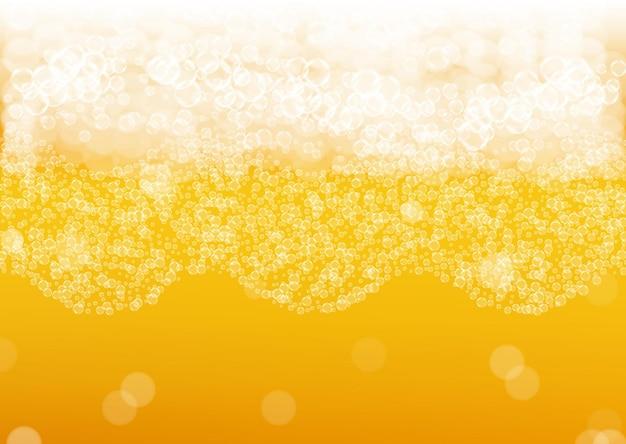 Fundo de cerveja com bolhas realistas.