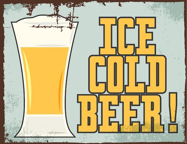 Fundo de cerveja gelada