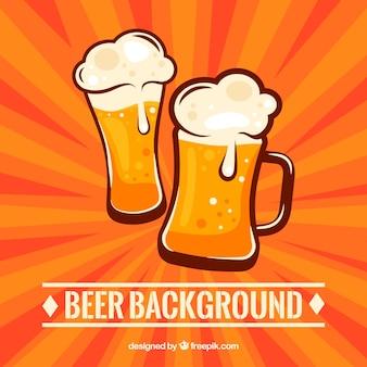 Fundo de cerveja plana