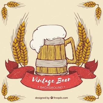 Fundo de cerveja vintage