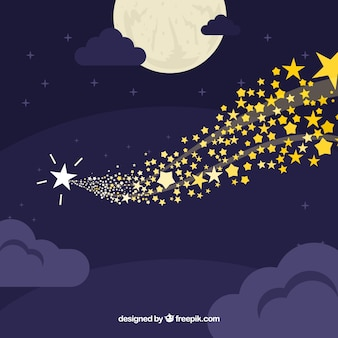 Fundo de céu com estrelas