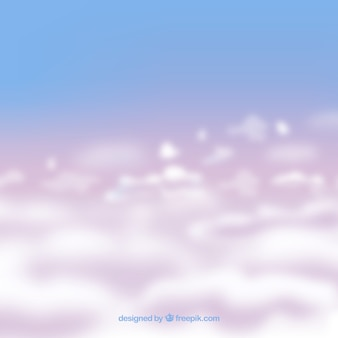 Fundo de céu nublado realista
