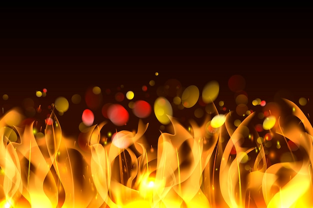 Fundo de chamas ardentes