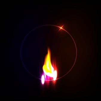 Fundo de chamas
