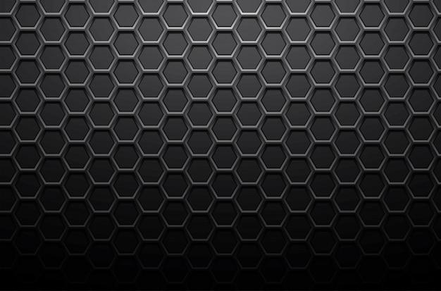 Fundo de chapa de aço de metal preto ou favo de mel de vetor de fundo de textura inoxidável