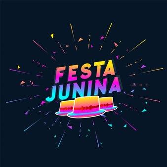 Fundo de chapéu colorido festa junina