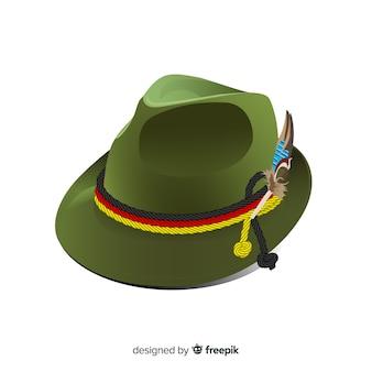 Fundo de chapéu de oktoberfest