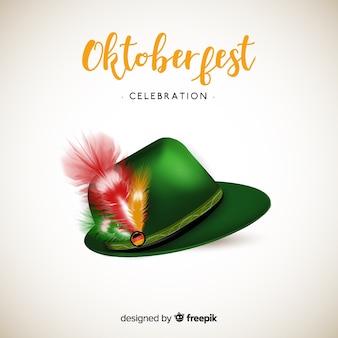 Fundo de chapéu de tirol clássico oktoberfest