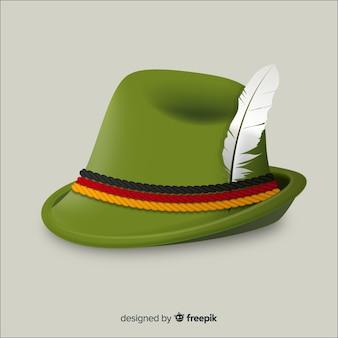 Fundo de chapéu tirolês