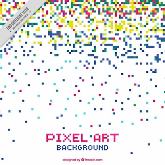 Fundo de chuva cores de pixel