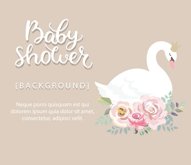 Fundo de chuveiro de bebê fofo