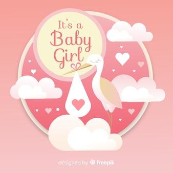Fundo de chuveiro de bebê lindo