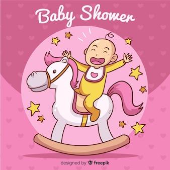 Fundo de chuveiro de bebê