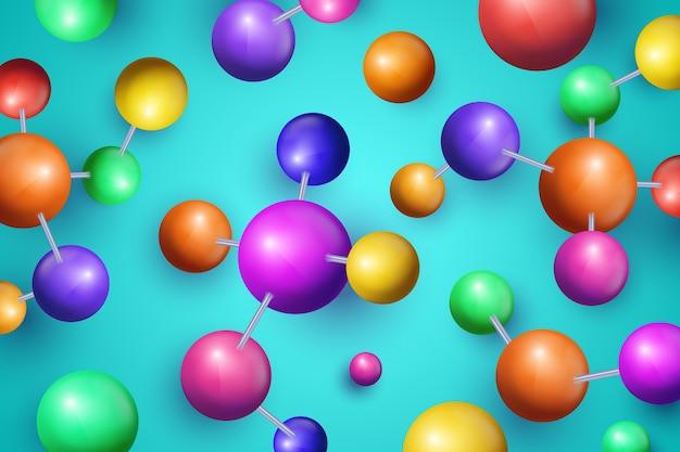 Fundo de ciência colorido design realista