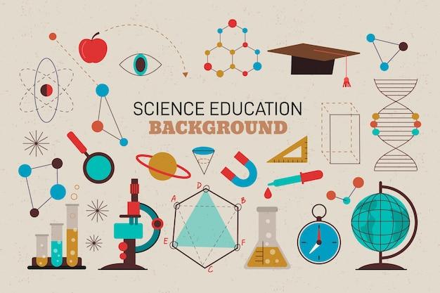 Fundo de ciência design vintage