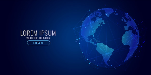 Fundo de ciência digital de conceito de tecnologia global