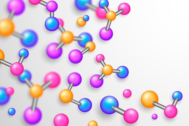 Fundo de ciência estilo realista colorido