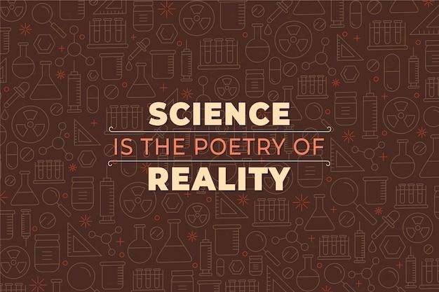 Fundo de ciência retrô com elementos