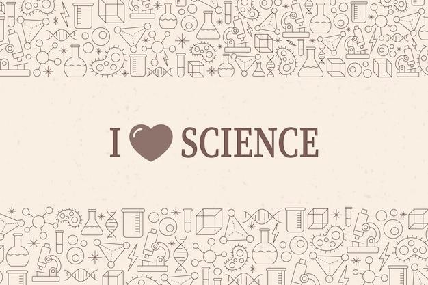 Fundo de ciência vintage com elementos