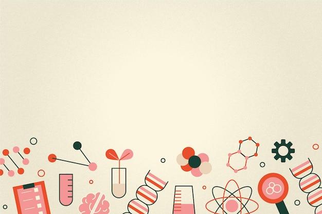 Fundo de ciência vintage