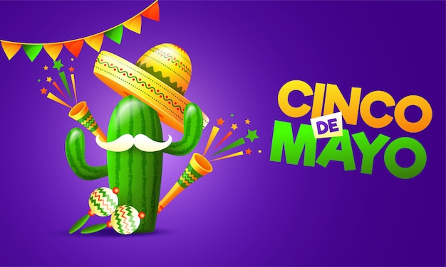 Fundo de cinco de mayo.
